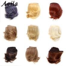 1 шт.. удлинительные кукольные парики 5*100 см натуральный цвет кудрявые кукольные волосы для BJD SD русская одежда ручной работы кукольные парики