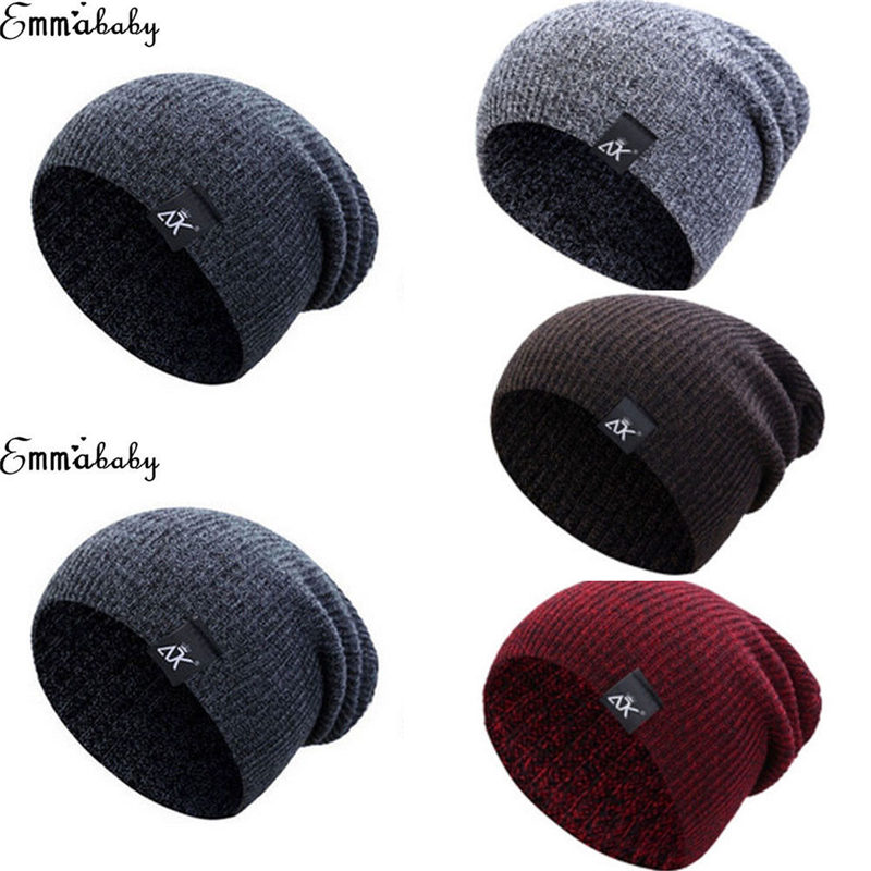 Herren Damen Gestrickte Cap Woolly Winter Warme Hohe Stretch Beanie Übergroßen Slouch Winter Hut Skateboard Neue