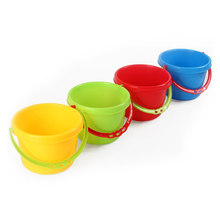 4pcs Creative Sand Tools Beach Kids Children Playing Water Toys Plastic Beach Pails Buckets for Pools Backyard (Random Color)(China)