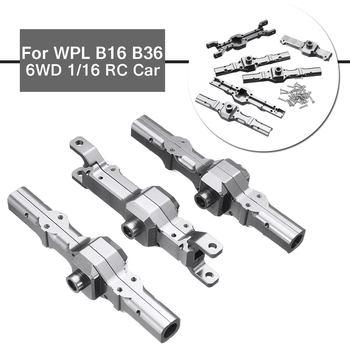 Für WPL B16 B36 6WD 1/16 Upgrade Ersatz Metall Front/Center/Hinterachse Gehäuse Teil Set RC Auto durable Ersatz Zubehör