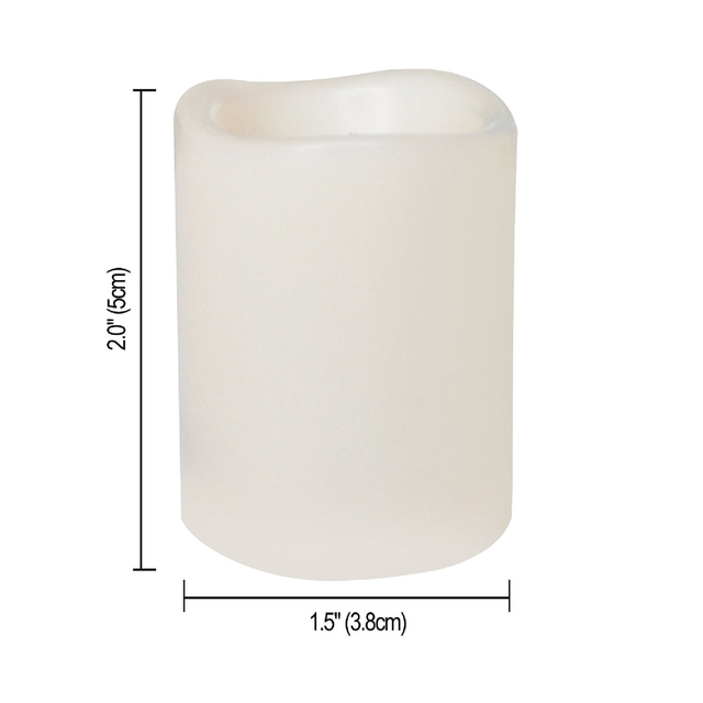 Candle Choice 12 Flameless LED Votive Candles Realistic Flickering Battery Operated Powered Votives Bright Electric Candles S…
