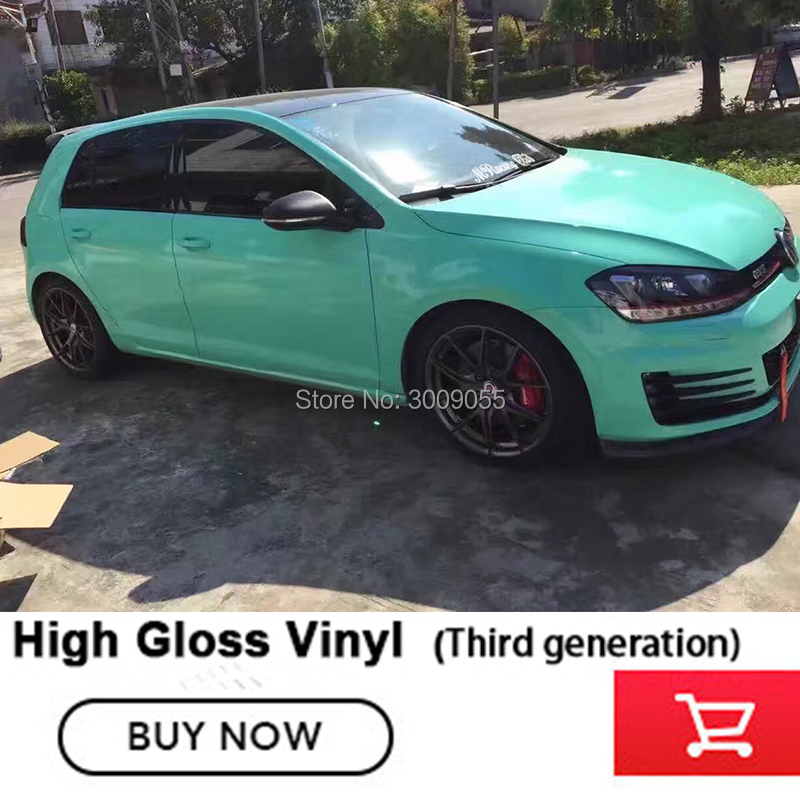 Haute brillance vinyle voiture enveloppes autocollants pour Protection de carrosserie changement de couleur troisième génération brillant série 17 couleur