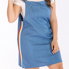 1281723cd91 Grace Karin Women Casual Denim Mini Club Skirt Suspender Overall Jumper  Jean Dress