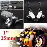 1 & quot; 25 мм мотоцикл тормозной цилиндр рычаги сцепления для Honda VTX Suzuki нарушителя бульвар Kawasaki вертолет крейсер