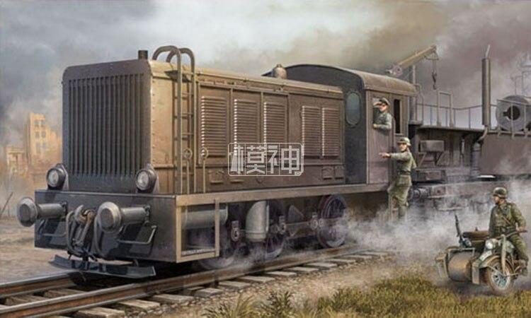 Military assembly model 1/35 World War II Germany WR360 diesel locomotive C1 steam locomotive 00216 цена 2017