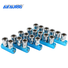 Pneumatic fittings SML 1/4 C type gas distributor Quick connector High pressure coupling Air pump air compressor joint 2 way pass air compressor quick connect coupler air hose distributor coupling tool