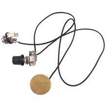 1V1J Piezo Pickup Transducer w/ Volume Knob for Cigar Box Guitar Musical Instrument Parts 27mm piezo transducer buzzer 10 pcs