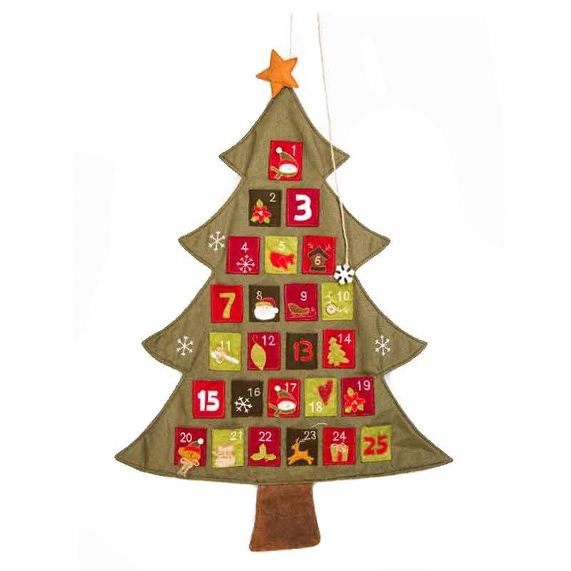 Kalender, Planer Und Karten Sinnvoll Ppyy Neue-weihnachten Baum Advent Kalender Countdown Decor Taschen Leinen Fortgeschrittene Technologie üBernehmen