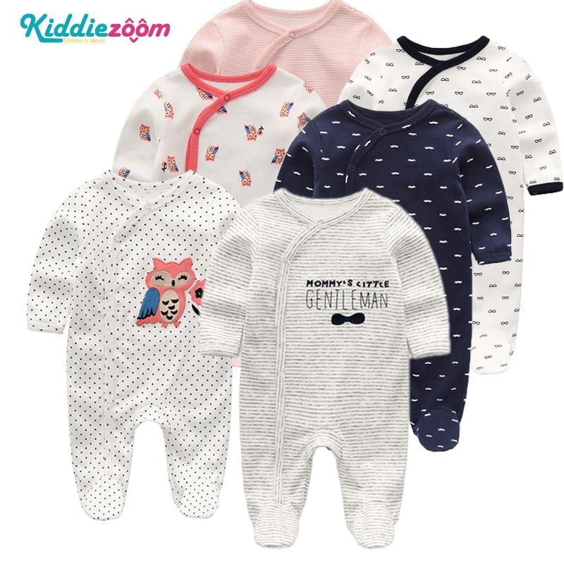 Одежда для новорожденных девочек детская одежда для мальчиков 100% мягкая хлопковая Пижама комбинезоны с длинным рукавом Комбинезоны для маленьких мальчиков|Ромперы| | АлиЭкспресс