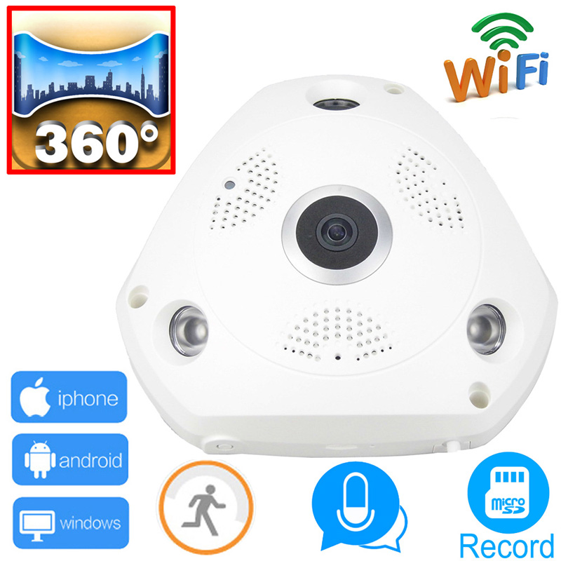 WIFI IP Camera 360 Fisheye Panoramic Dome Camera 3.0MP ONVIF CCTV Night Vision Video Home Surveillance Security P2P H.264