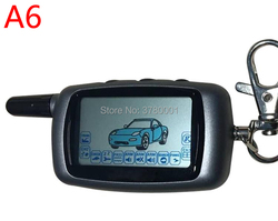 Russian Version A6 LCD Remote Control Key Fob for Starline A6 Keychain Twage Two Way Car Alarm System