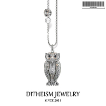 Link Chain Necklace Big and Small Owl, 2018 New Fashion 925 Sterling Silver Jewelry European Romantic Gift For Women Girls