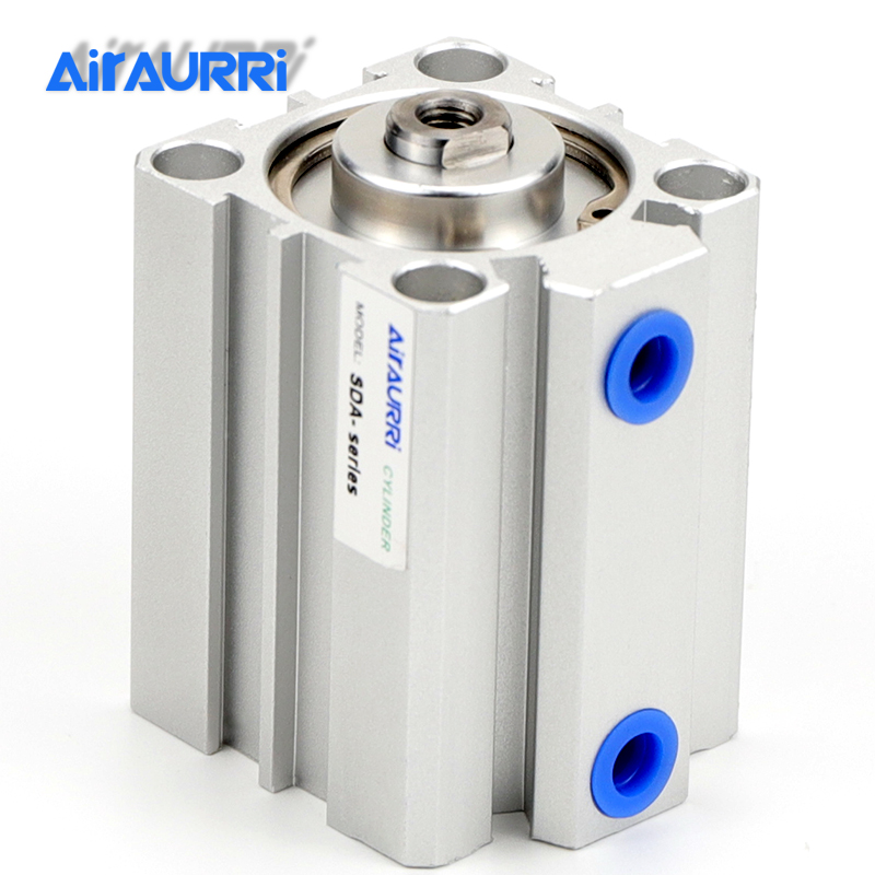 SDA series 63mm Bore Pneumatic Compact air Cylinder Stroke to 5 10 15 20 25 30 35 40 45 50mm High quality double acting cylinderSDA series 63mm Bore Pneumatic Compact air Cylinder Stroke to 5 10 15 20 25 30 35 40 45 50mm High quality double acting cylinder