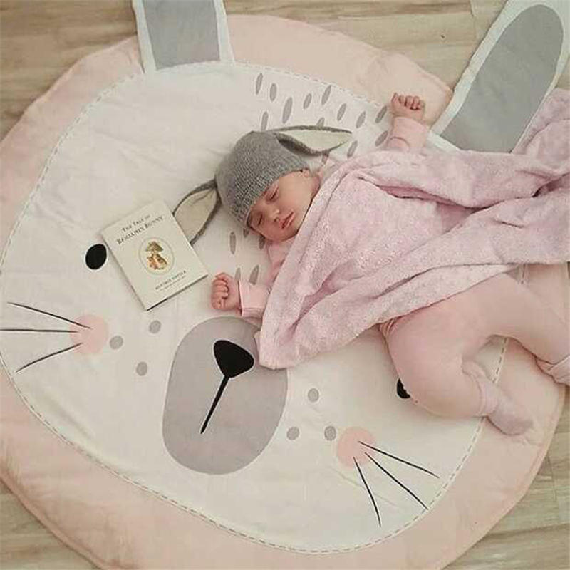 BalleenShiny Baby Play Mats for Kids Round Carpet Rugs Cotton Animals Play Mat Newborn Infant Crawling Blanket Floor Carpet | Happy Baby Mama