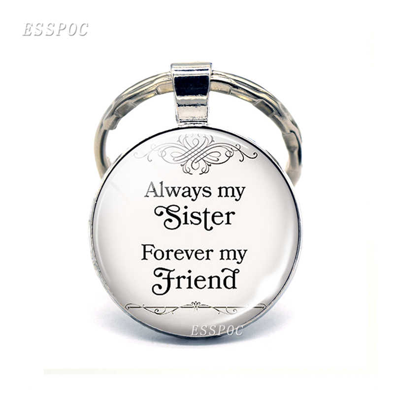 """Прямая доставка """"всегда моя сестра, мой друг навсегда"""" Дружба Цитата брелок сестры брелок лучший друг ювелирный ключ кольца"""