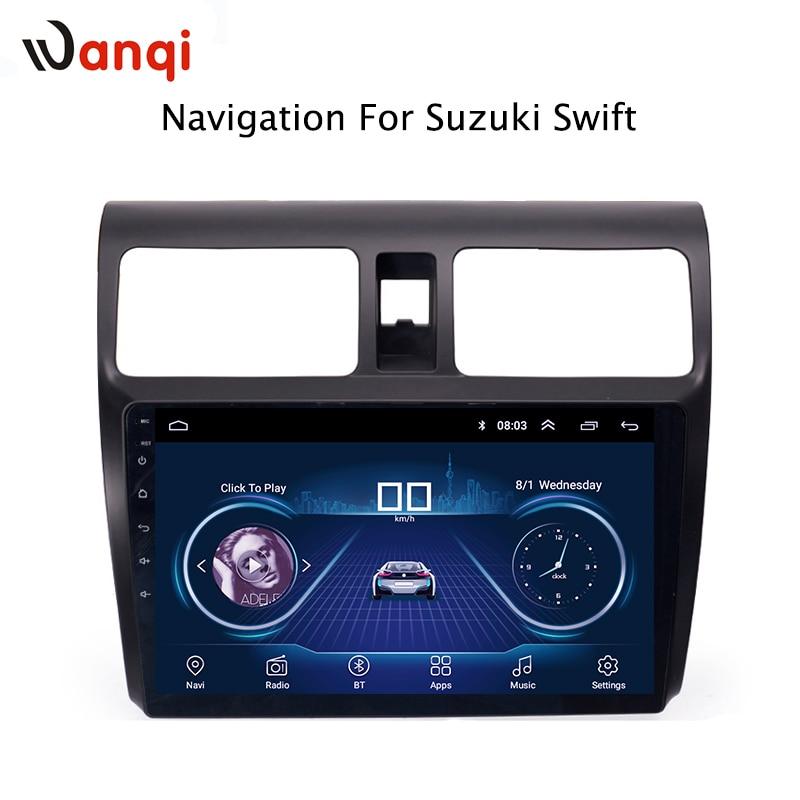 10.1 pouce Android 8.1 plein écran tactile système multimédia de voiture pour Suzuki Swift 2004-2010 voiture gps radio navigation