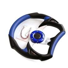 13 Inch 330mm Pvc Car Steering Wheel / Leather Universal Modified Steering Wheel / Blue Racing Steering Wheel