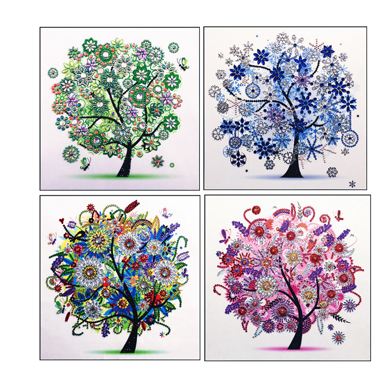 Hibah 5D DIY Diamond Embroidery Landscape Flower Tree