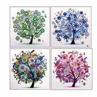 5D DIY Diamant Malerei Vier Jahreszeiten Baum Spezielle Glänzende Diamant Stickerei Mosaik Aufkleber Kreuz Stickerei Dekoration