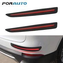 2 Pieces Anti Collision Car Front/Rear Edge Corner Guard Strip Bumper Scratch Protection Auto Decoration Car Sticker Car styling