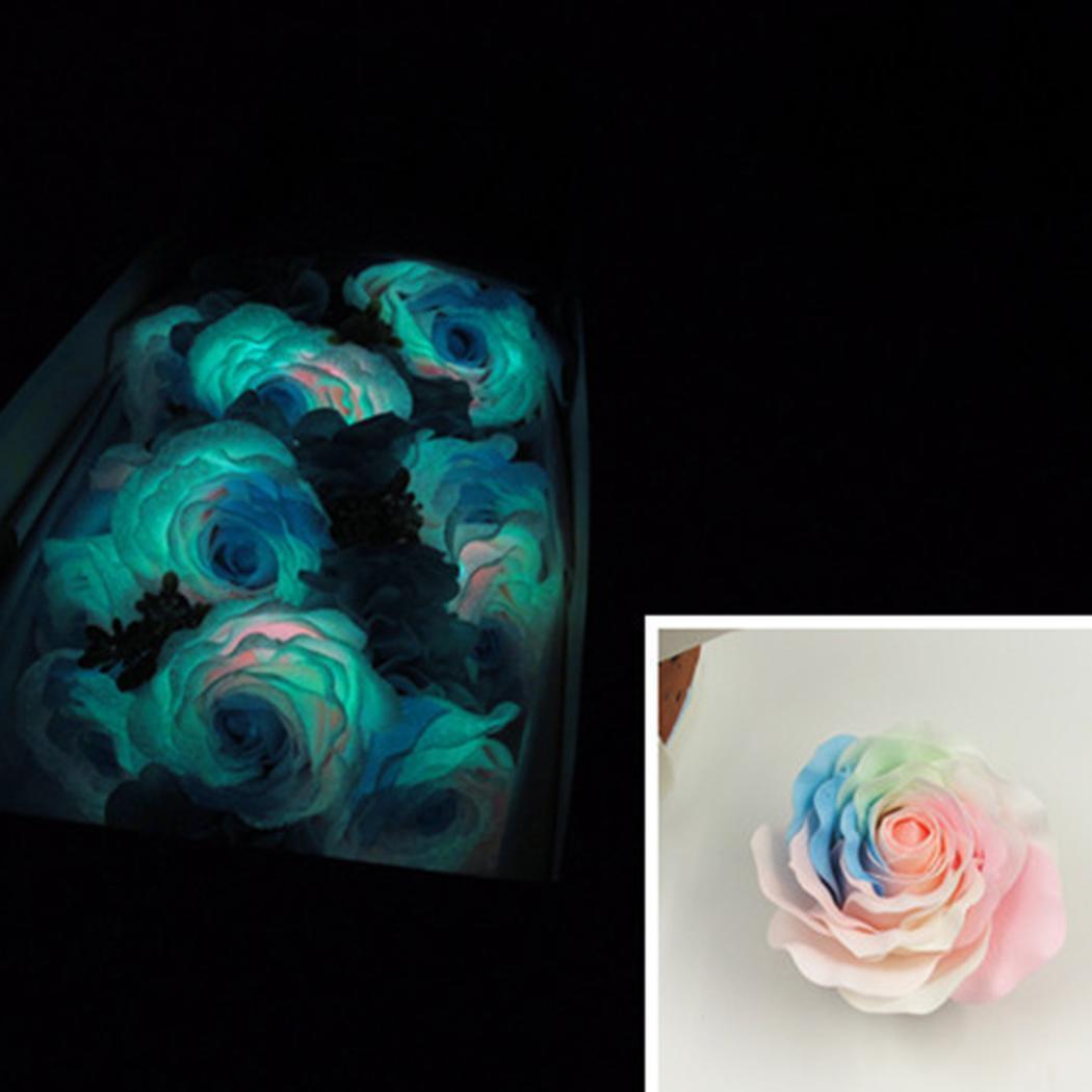 9 Pcs Soap Flower Luminous Roses Sterilized Soap Bathing Shower Tool Fashion Practical Creative Gift Box for Birthday Valentine