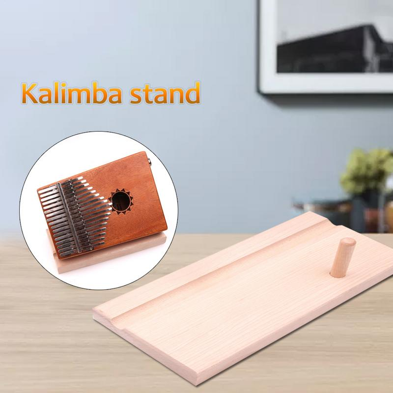 Wooden Kalimba Ocarina Thumb Piano Support Stand Musical Instrument Display Stand 19x9x1.8cm