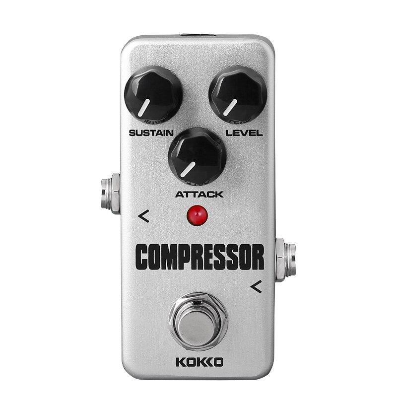KOKKO FCP2 Mini Pedal Efeito Guitarra Pedal Compressor Portátil de Alta Qualidade Partes de Guitarra Pedal de Efeito de Guitarra