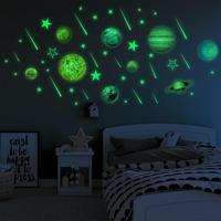 Bright Solar System Luminous Wall Stickers Star Stickers Children's Room Decoration Self-Adhesive Stickers For Livingroom