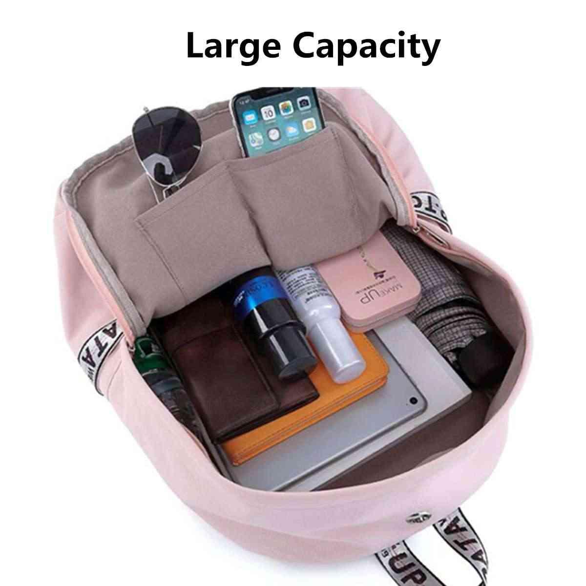 Новый женский рюкзак, usb зарядка, нейлоновые рюкзаки, школьные сумки для девочек-подростков, рюкзак для ноутбука, mochila feminina, школьная сумка