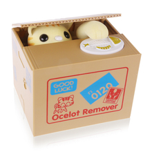 Creative Piggy Bank Coin Stealing Panda/Cat Box