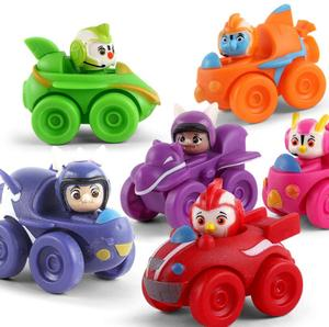 Image 4 - 6 ピース/セットトップ翼アクションフィギュアおもちゃ車フィギュア迅速、ロッド、ペニー、ブロディおもちゃコレクション人形 7 センチメートルキッズギフト