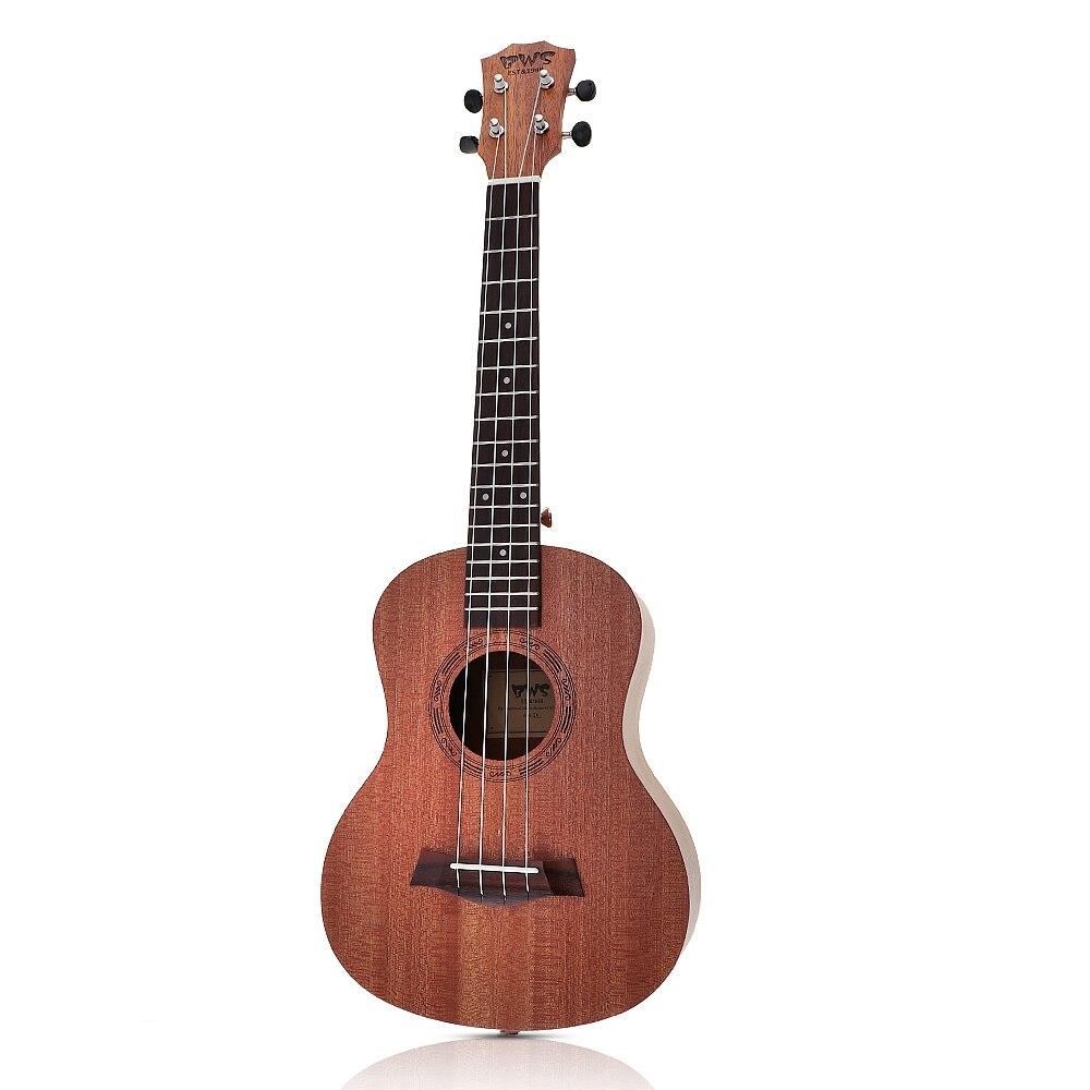 Madera de caoba de 26 pulgadas 18 Tenor Ukelele acústico Cutaway Guitarra de caoba madera Ukelele Hawaii 4 cuerdas Guitarra