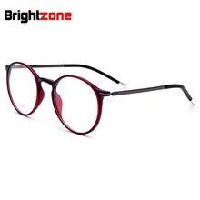 8939f6a4d الرجال جولة البيضاوي TR90 ضئيلة معبد النظارات جسر 21mm الكورية الأزياء الايطالية  نظارات فوج واضح عدسة الأحمر نظارات إطارات