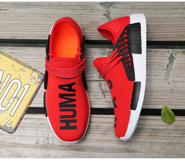Wheresroad Human Race Yellow Casual Shoes Men's Flyknit Fashion Sneakers Light Summer Spring Man Ultra Boosts Size35-47