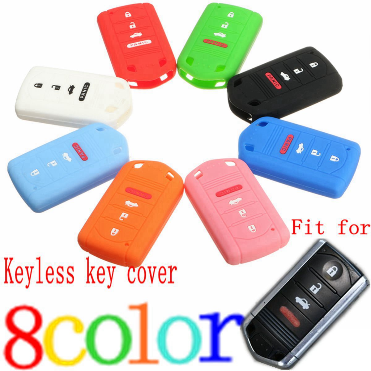 4 Buttons Silicone Car Remote Smart Key Case Fob Cover For