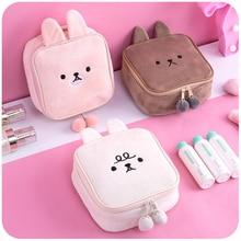 Rabbit Travel Cosmetic Bag Set Travel Cosmetic Bag Women Zipper Makeup Bag Tools