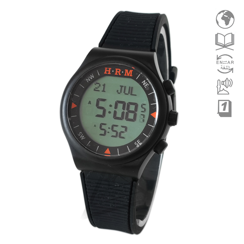 Waterproof Sport Watch With Prayer Alram And Hijri 6506 Azan Clock With Automatic Qibla Direction And Stopwatch Digital Watches
