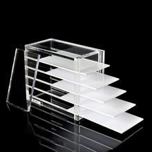 5 Layers Clear Eyelash Storage Box Makeup Organizer False Eyelashes Glue Pallet Holders Grafting Extension Tool