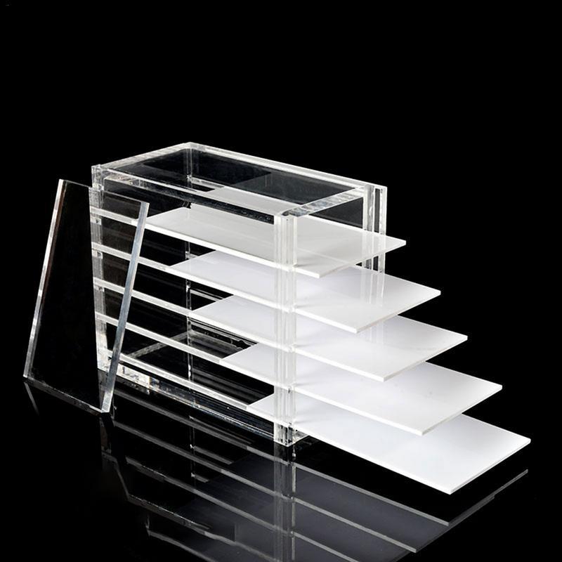 5 couches clair boîte de rangement de cils organisateur de maquillage faux cils colle porte-palette greffage outil d'extension de cils