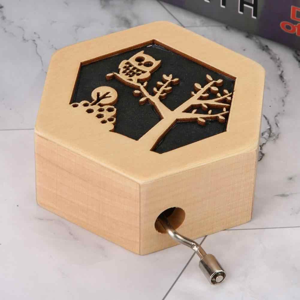 Cikonielf Muziekdoos Hout Handslinger Gratis Graveren Hand Caixa De Musical Box Gelukkige Verjaardag Klassieke Gebogen Houten Home Decor
