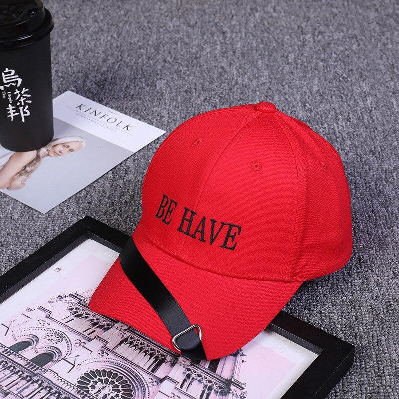 Ehrlichkeit 2019 Neue Koreanische Stoff Stickerei Brief Werden Haben Baseball Kappe Hut Persönlichkeit Verband Einfarbig Persönliche Hut