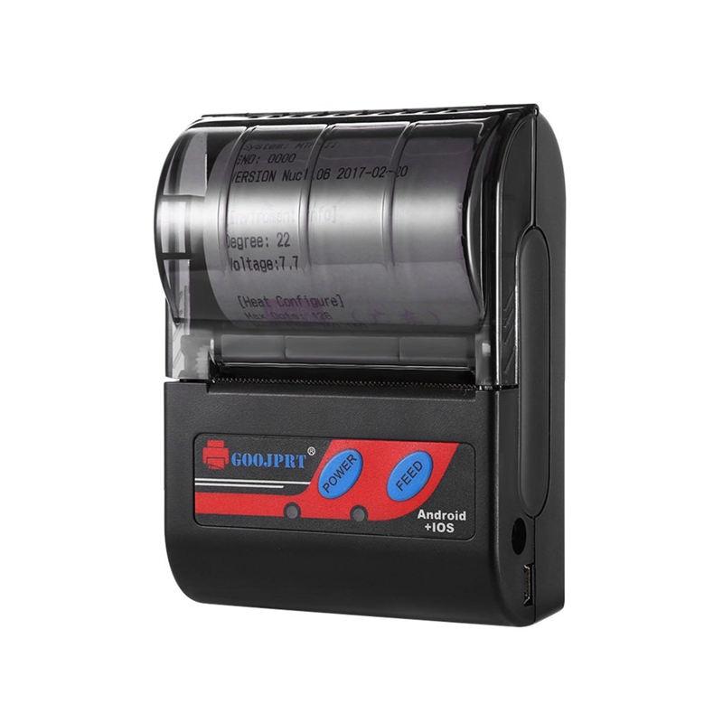 Goojprt Mtp - Ii 58Mm Bluetooth Thermal Printer Portable Wireless Receipt Machine For Windows Android Ios Eu Plug