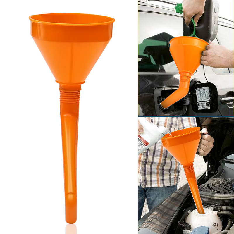 Grebest Fuel Funnel Maintenance Tools Car Funnel Plastic Car Vehicle Motorcycle Thicken Oil Water Fuel Gas Petrol Pouring Funnel Black