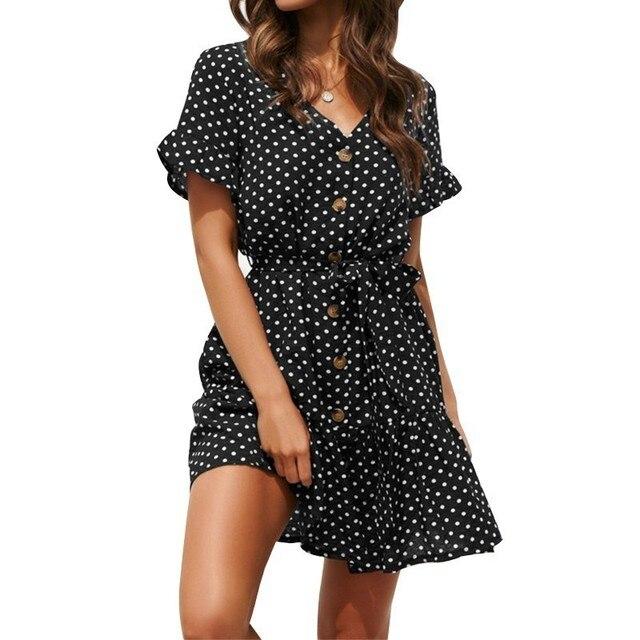 83fbe8d5c Maternidad ropa de verano 2019 vestido gasa Dot nueva moda Premama vestidos  para las mujeres embarazadas embarazo. Maternity Summer Wear ...