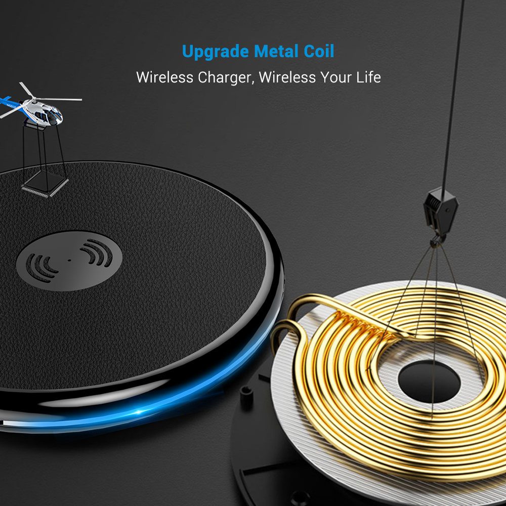 CASEIER Cool Wireless Charger For Samsung S10 S9 S8 Plus For iPhone X XR XS MAX Charger Wireless Fast Charging chargeur sans fil in Mobile Phone Chargers from Cellphones Telecommunications