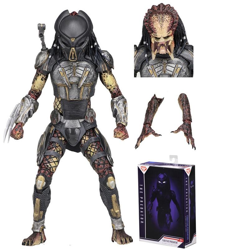 Scar Fugitive 2018 NECA The Predator Action Figures Toy NECA Predator PVC Figures Toy Predator Christmas Gifts For Children Kids