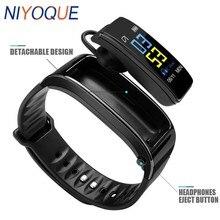 Niyoque Smart Talk Band Kleurrijke Bluetooth Oortelefoon Hoofdtelefoon Hartslag Smart Armband Polsband Voor Iphone Huawei Xiaomi Telefoon