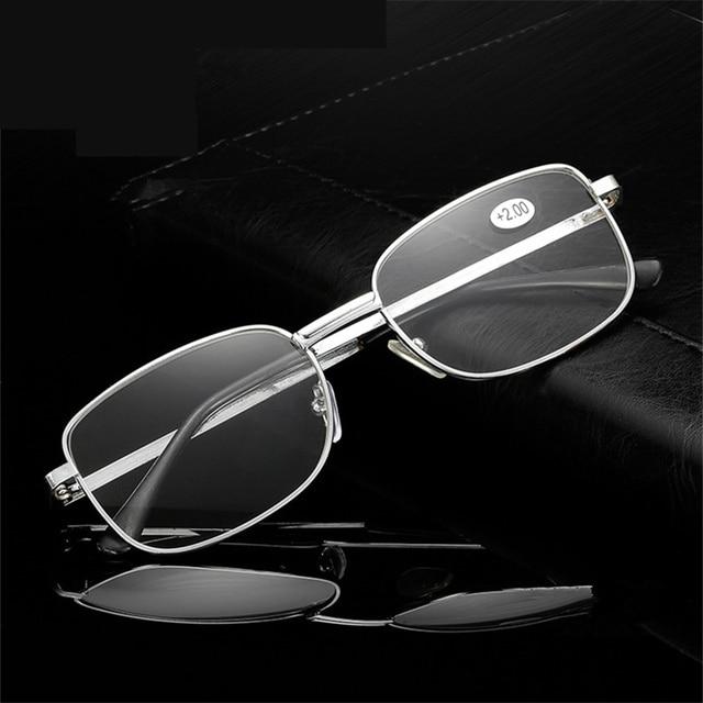 XojoX Men Metal Frame Reading Glasses Women Prescription Glasses Elderly Presbyopic Eyeglasses Hyperopia Diopter +1.5 2.0 2.5