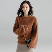 2018 net red new early spring and autumn pullover womens fashion loose sweater bottom o-neck feminino Y8020