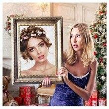 AZQSD 5D Фото Пользовательские Алмаз Живопись Частные Рукоделие DIY картина стразами алмазная мозаика Изображение Стразы наклейки на стену Рождественский Подарок